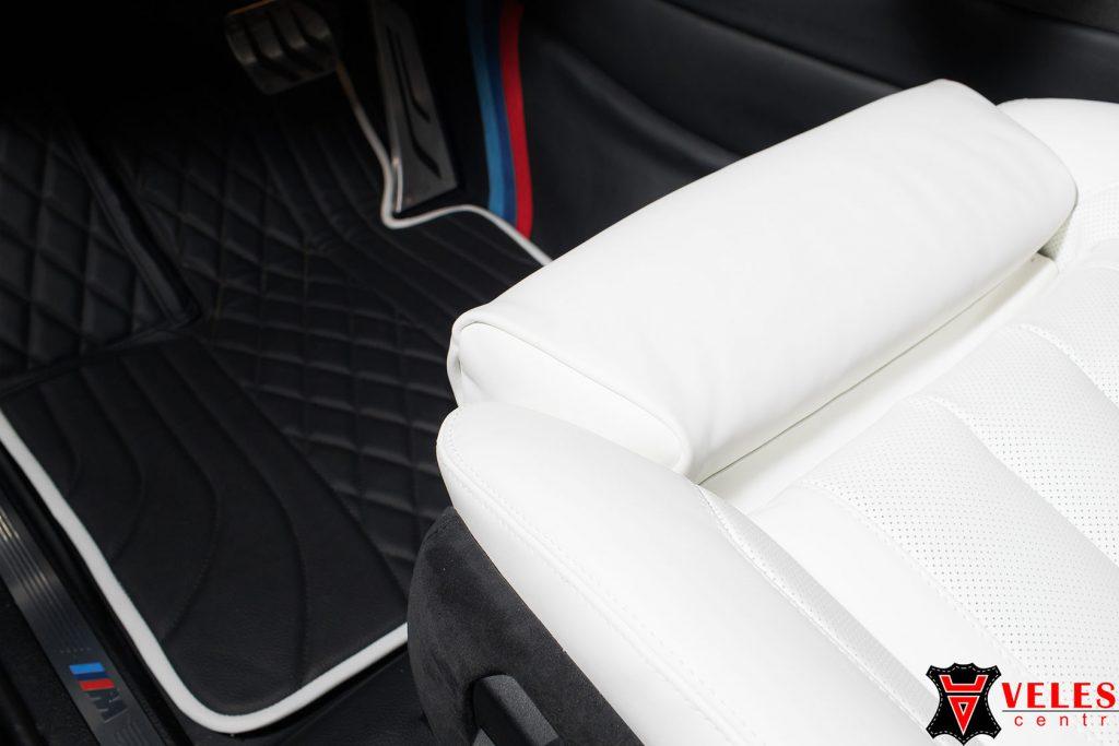 Перетяжка сидений кожей Наппа BMW X5M в Москве