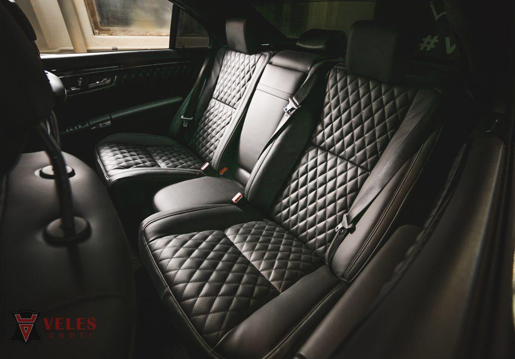 Перетяжка сидений в искусственную кожу Mercedes S-klass в Москве
