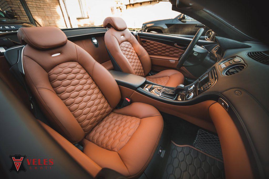 Перешив сидений Mercedes SL AMG в Москве