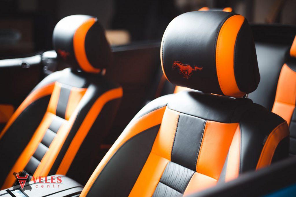 Перешив сидений Mustang GT в Москве