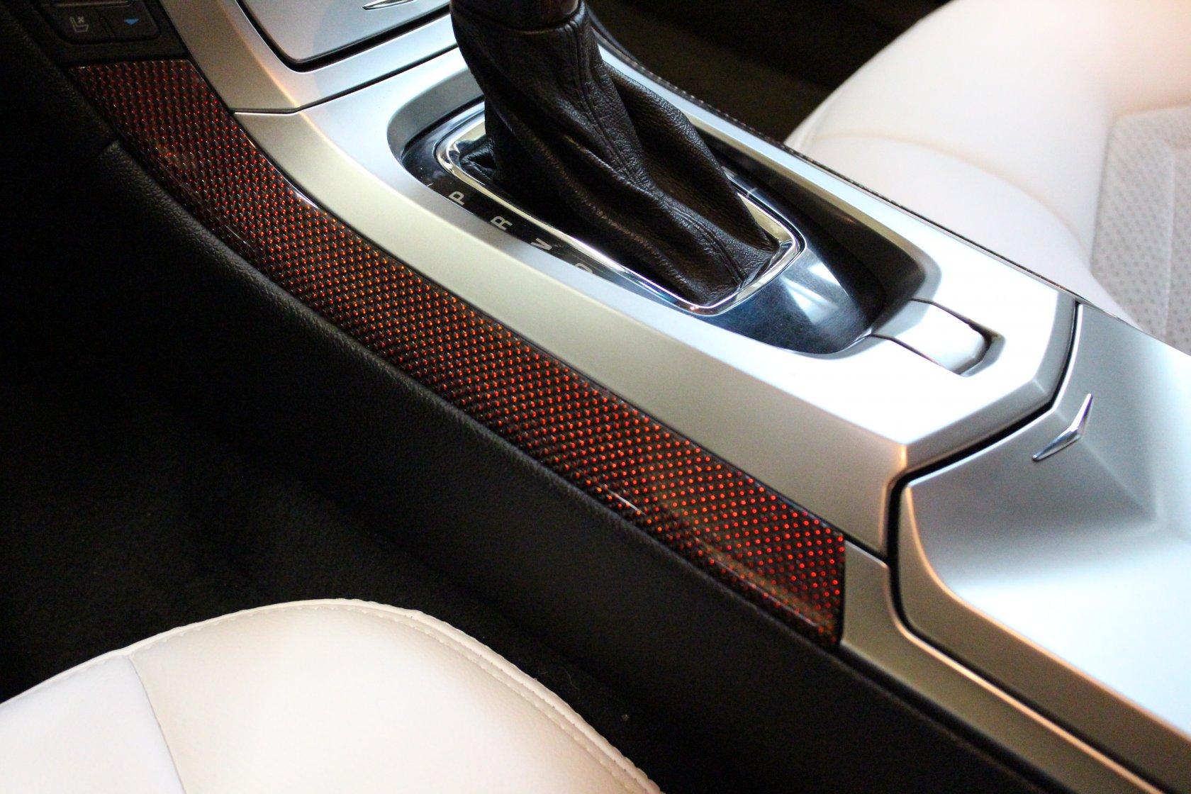 Перешив ручки КПП в белоснежную искусственную кожу Cadillac в Москве