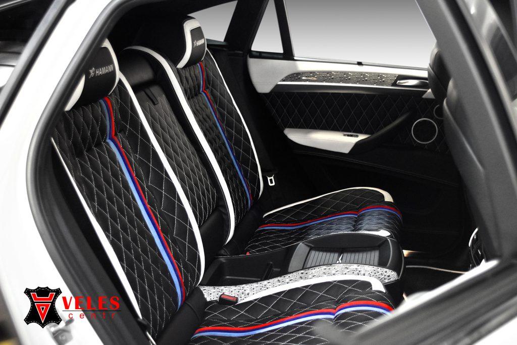 Перешив сидений для BMW X6M в Москве