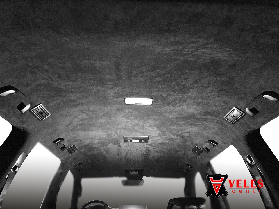 Lexus 570 перешив потолка alcantara в Москве