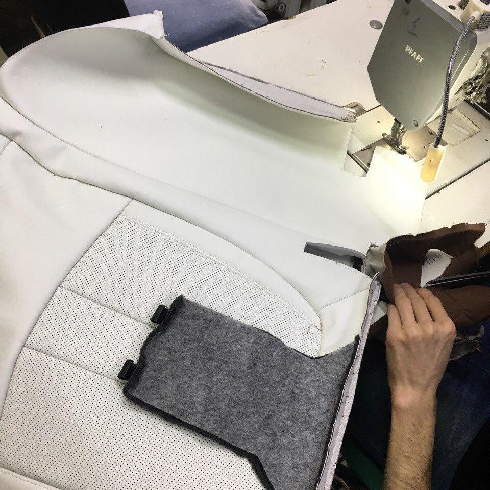 часть салона для BMW, процесс перешива