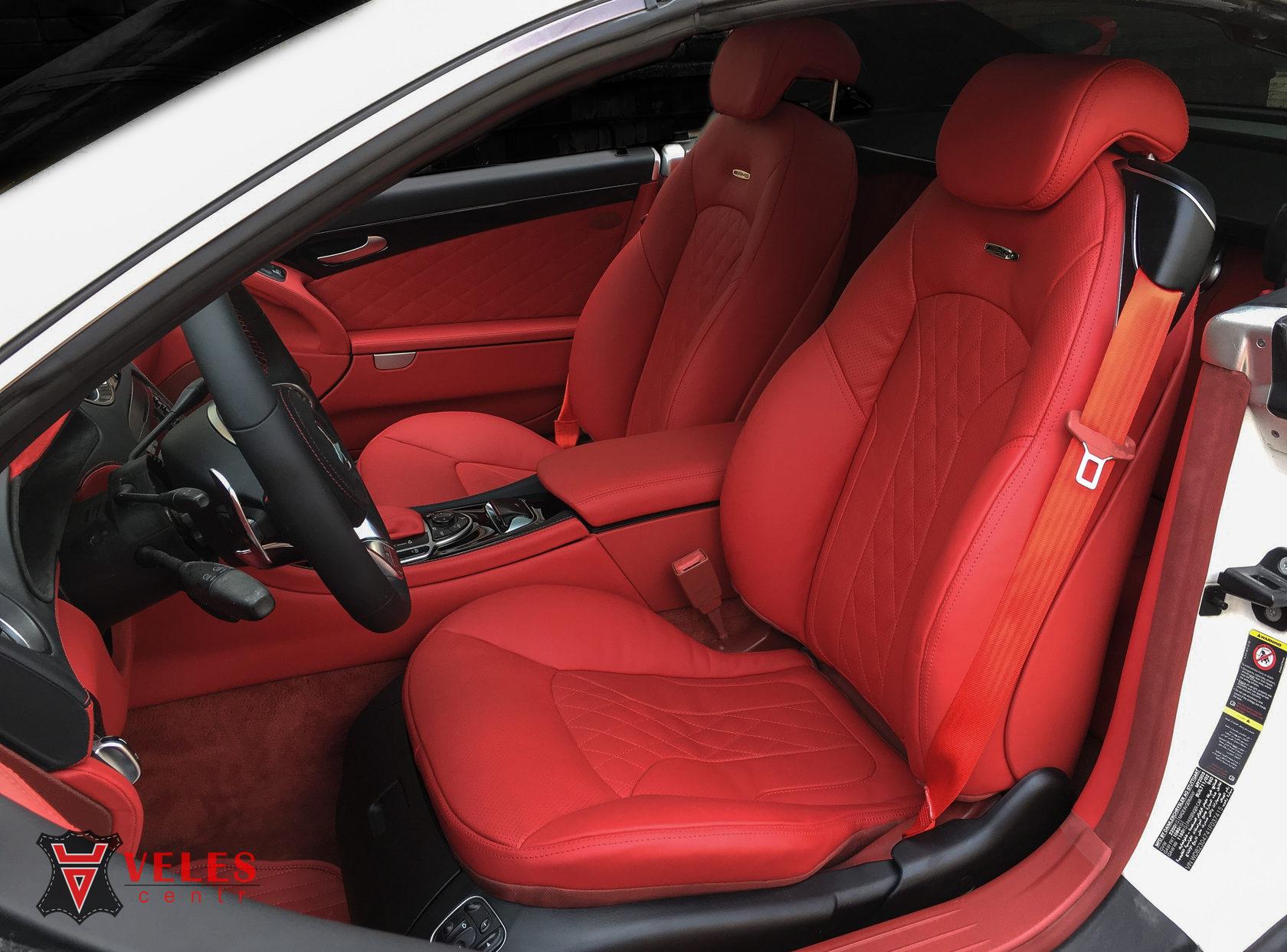 перетяжка сидений Mercedes SL