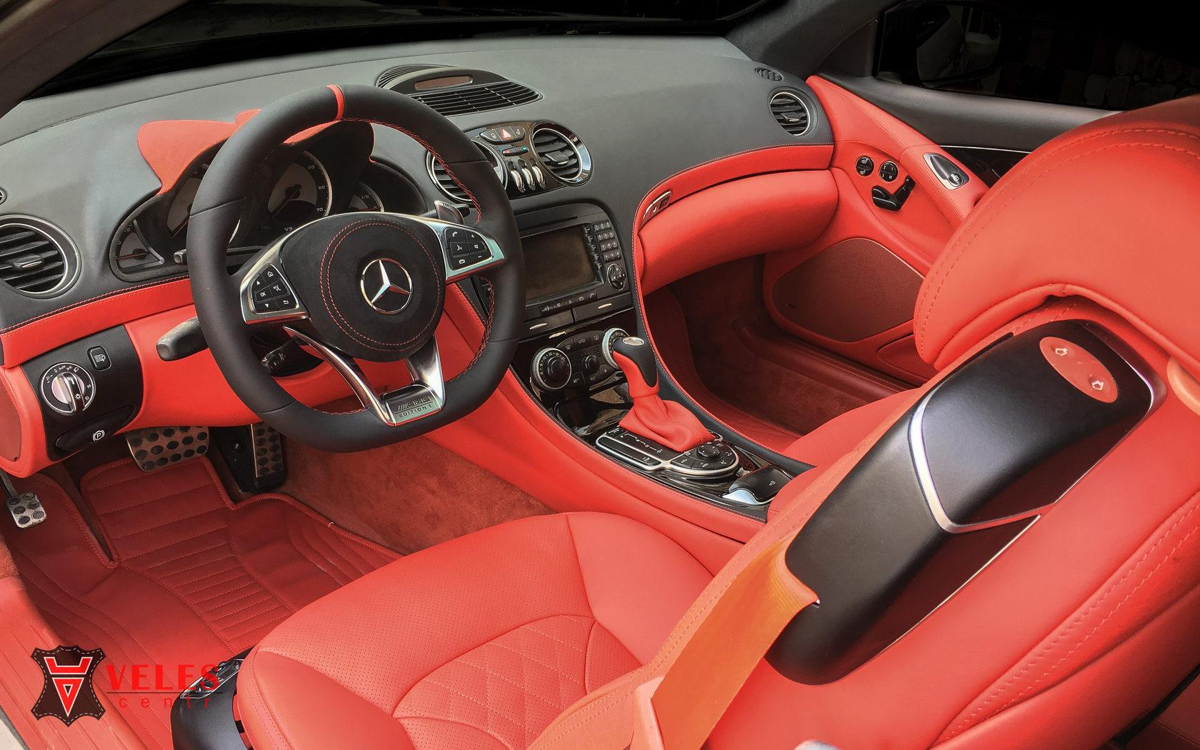 перетяжка салона Mercedes SL