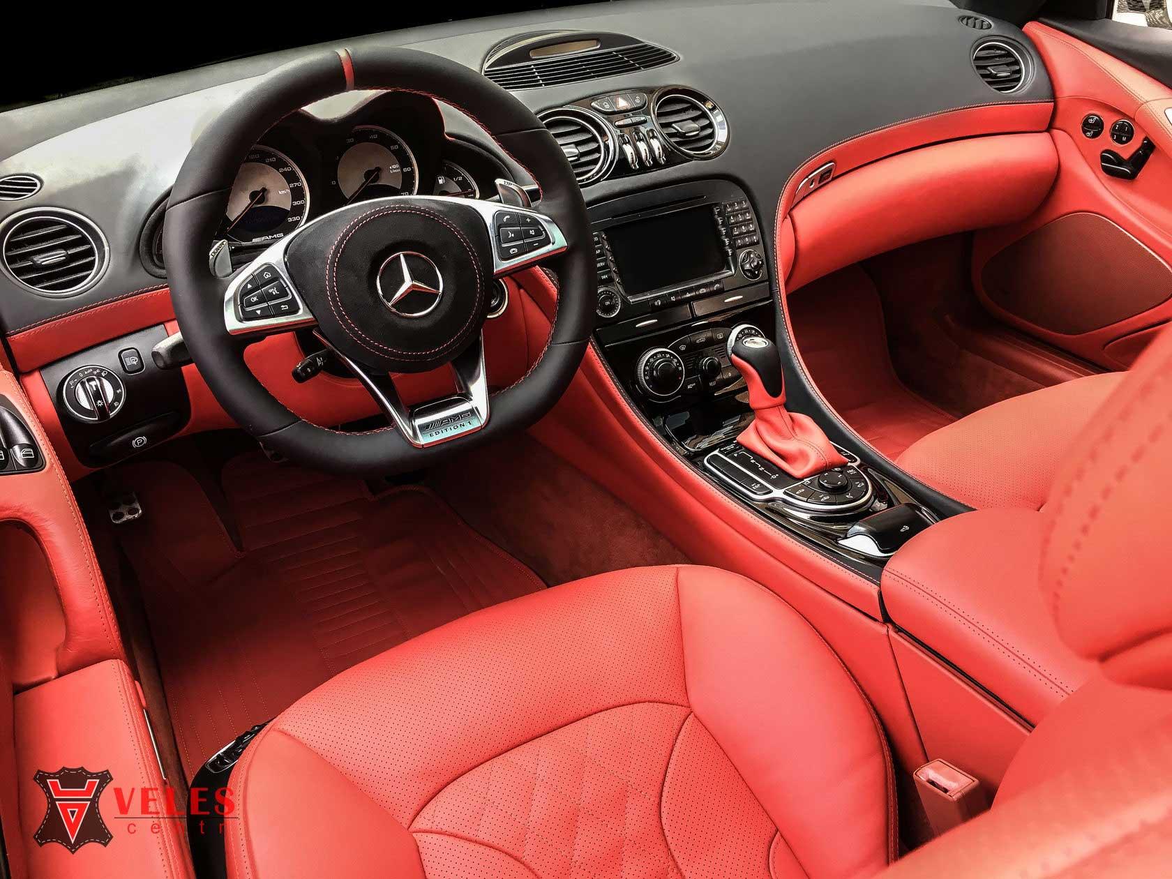 Ремонт и перетяжка салона Mercedes SL