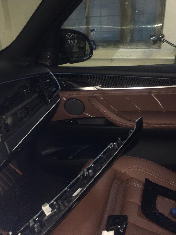 разбор салона и подготовка к перешиву BMW