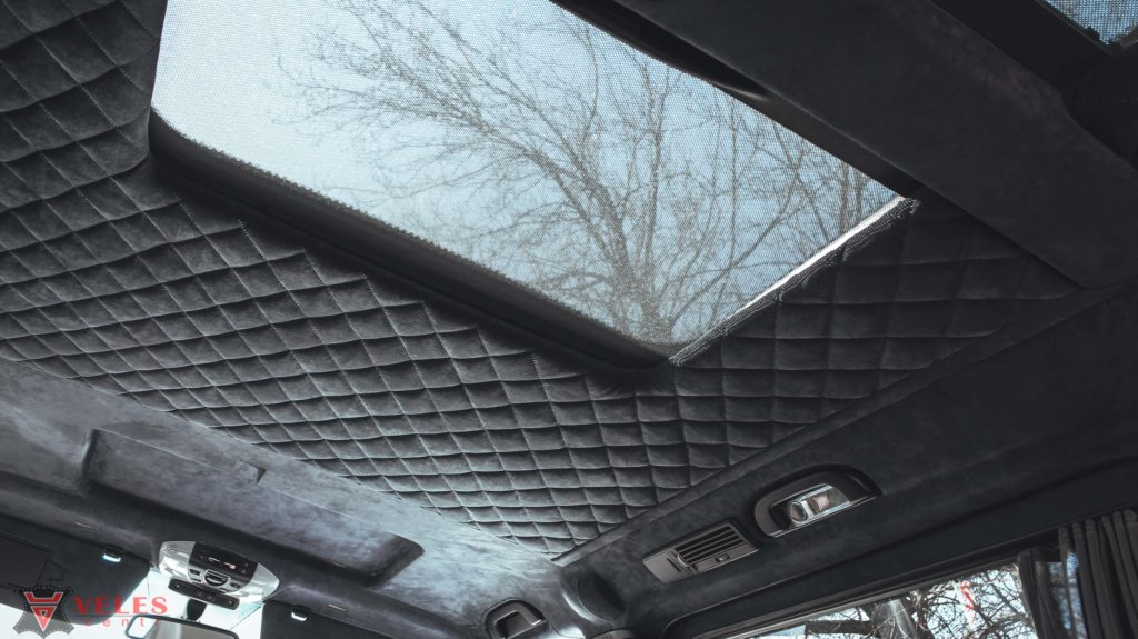 претяжка потолка автомобиля алькантарой в москве