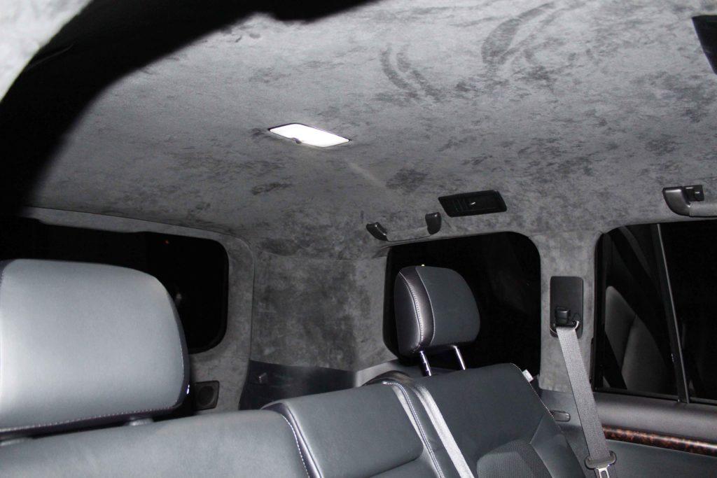 перетянуть потолок в машине land cruiser