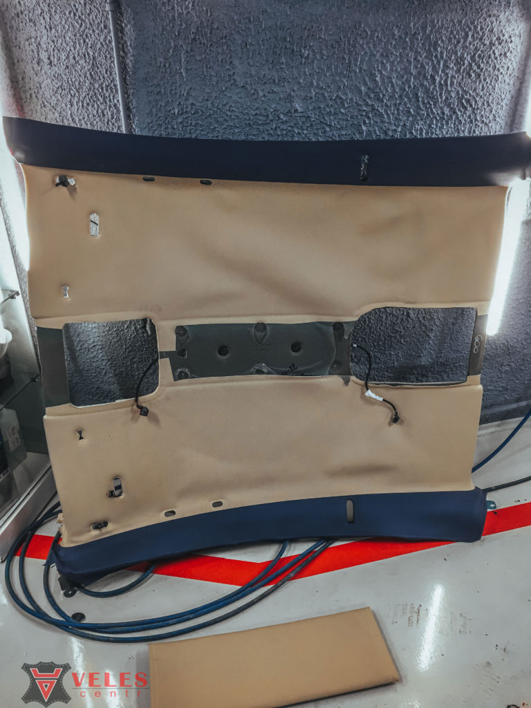 ремонт потолка в машине velescentr