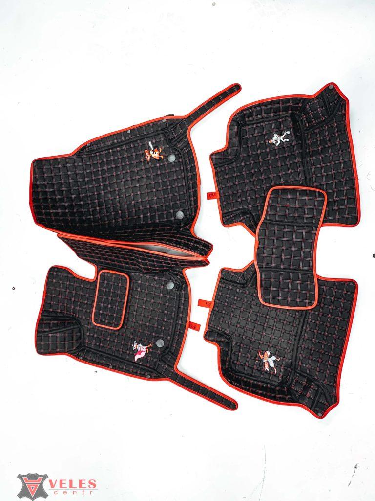 кожаные коврики в авто velescentr