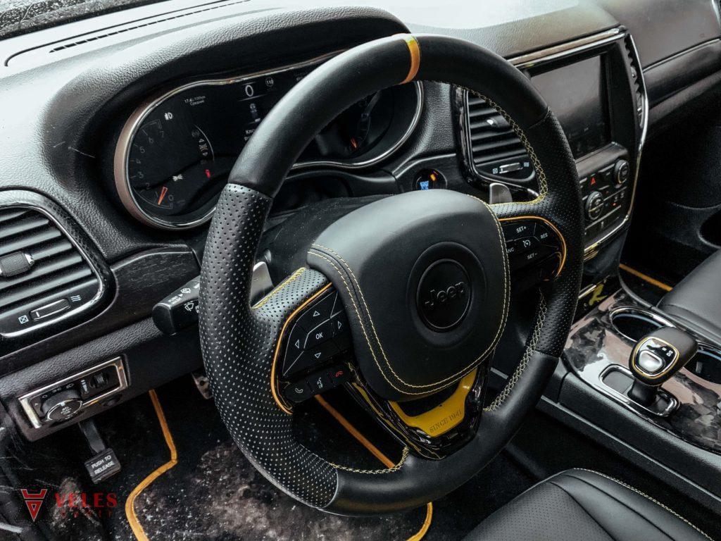 перетяжка руля в кожу jeep
