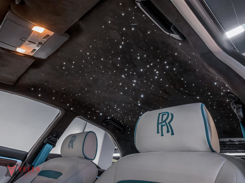 перетяжка потолка с установкой звездного неба